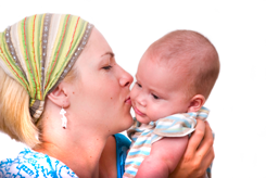 Mom kiss baby Body After Baby